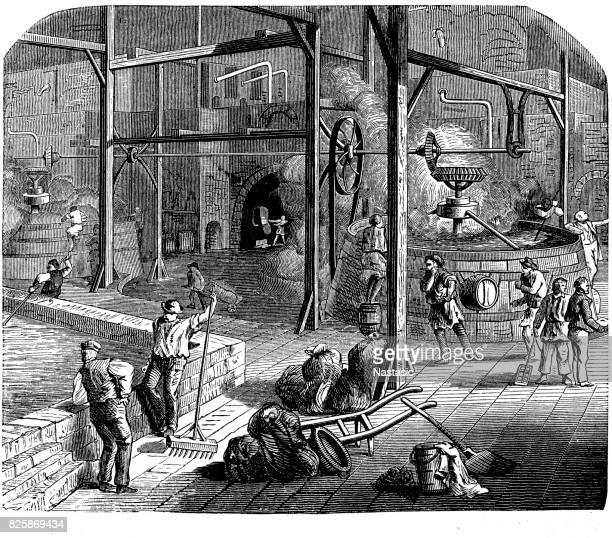 ilustrações, clipart, desenhos animados e ícones de indústria cervejeira de cerveja no século xix - século xix