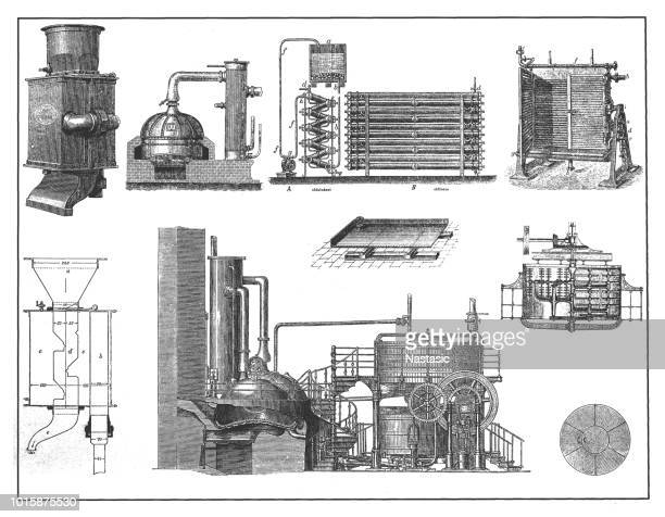 brewing industry ,, technical equipment - brewery stock illustrations, clip art, cartoons, & icons