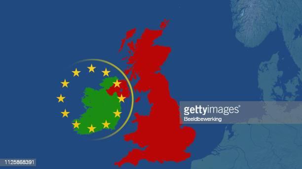 illustrations, cliparts, dessins animés et icônes de caricature de butée brexit irlande royaume-uni et union européenne - brexit