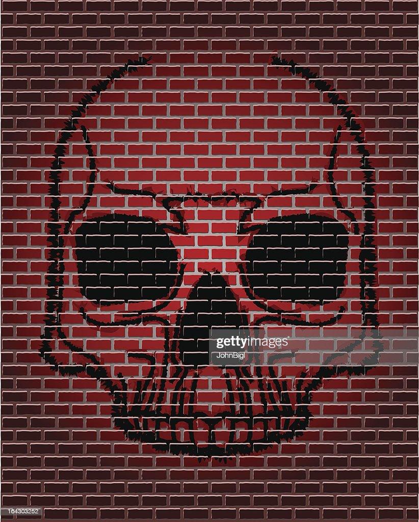 Brick skull
