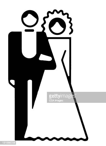 Bride And Groom Stock Illustrations And Cartoons Getty Images