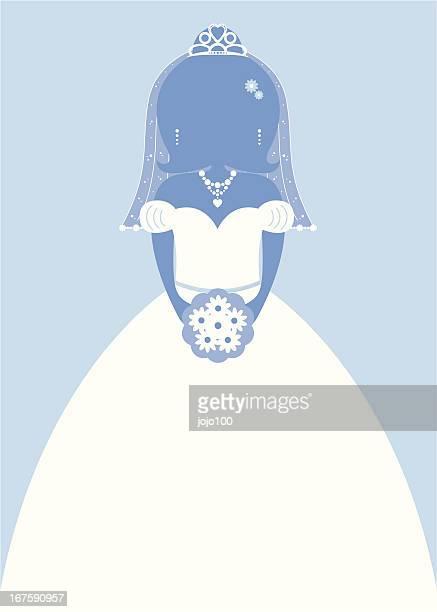 Sposa carattere Silhouette in blu