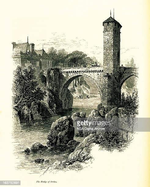 Bridge over the Gave de Pau, Orthez, France