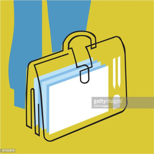 briefcase - paperwork stock illustrations