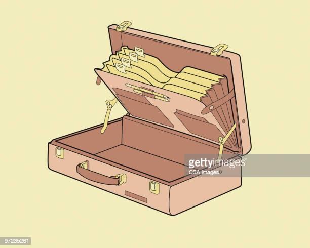 ilustraciones, imágenes clip art, dibujos animados e iconos de stock de briefcase - maletín
