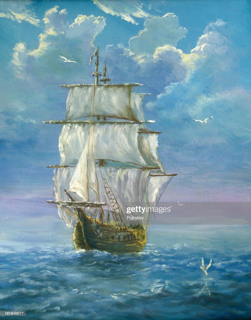 brigantine : stock illustration