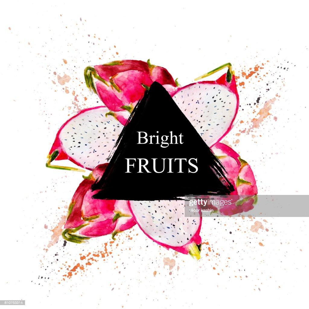 Helle Früchte Verkauf Und Andere Flyer Vorlage Mit Schriftzug ...