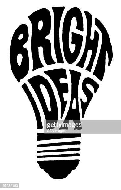 bright ideas - ideas stock illustrations