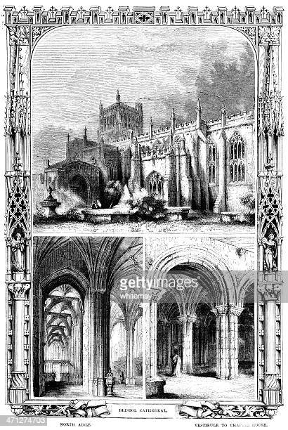Bristol Cathedral - Victorian illustration