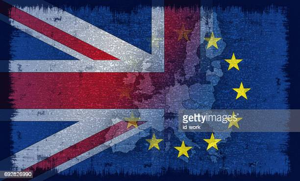 british and european flag - brexit stock illustrations