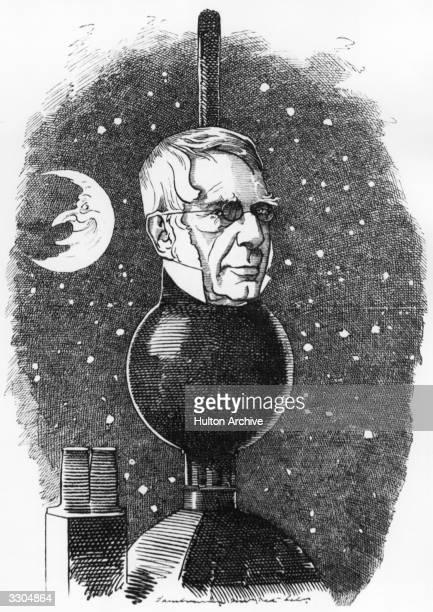 British astronomer Royal George Bidell Airy Punch Magazine pub 1883