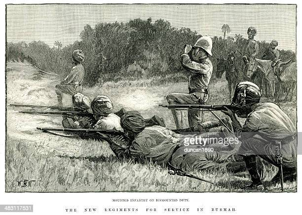 british colonial troops - british empire stock illustrations