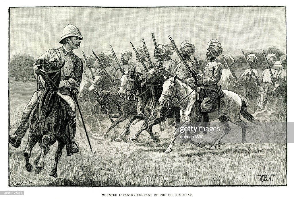 British Colonial Troops : stock illustration