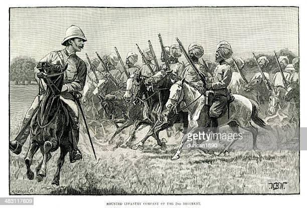 british colonial troops - british culture stock illustrations