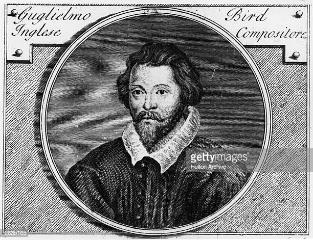 British composer, William Byrd , circa 1580, from an engraving by Vandergucht at the British Museum.