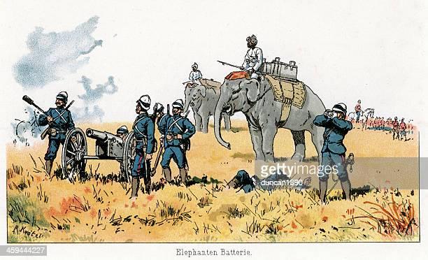 British Empire Military - Elephant Artillery