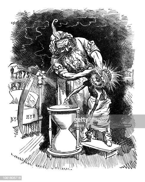 British London satire caricatures comics cartoon illustrations: 1878 execution