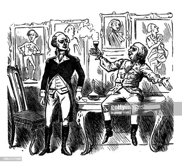 British London satire caricatures comics cartoon illustrations: Drink