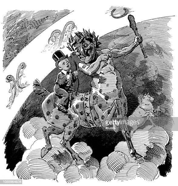 illustrations, cliparts, dessins animés et icônes de satire de londres british caricature illustrations cartoon bd: peinture allégorie - cupidon humour