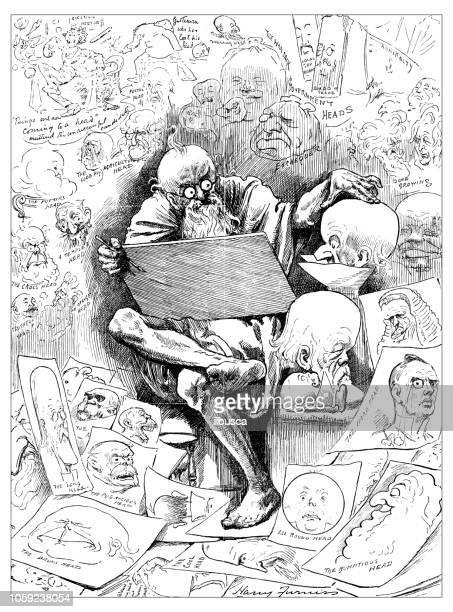 イギリス ロンドン風刺風刺漫画漫画漫画イラスト: 図面 - カトゥーニスト点のイラスト素材/クリップアート素材/マンガ素材/アイコン素材