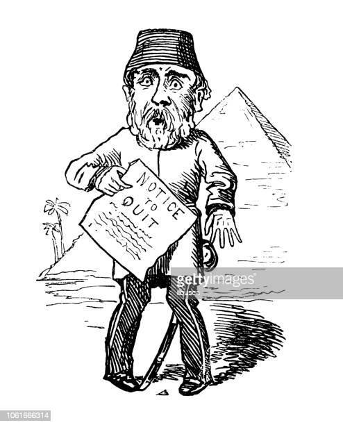 british london satire caricatures comics cartoon illustrations - north african ethnicity stock illustrations, clip art, cartoons, & icons