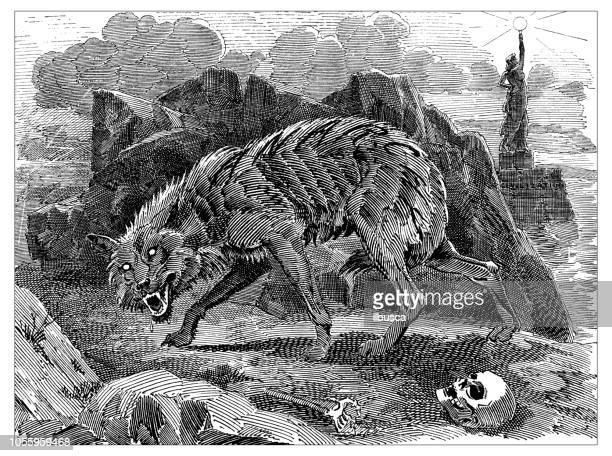 British London satire caricatures comics cartoon illustrations: Werewolf of Anarchy