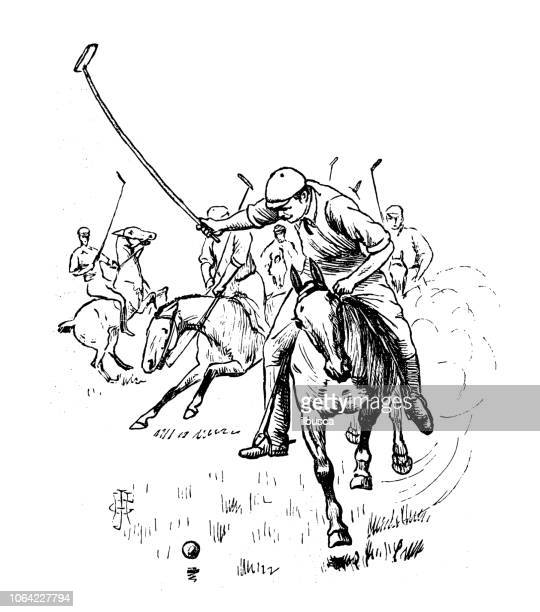 british london satire caricatures comics cartoon illustrations: polo - polo stock illustrations