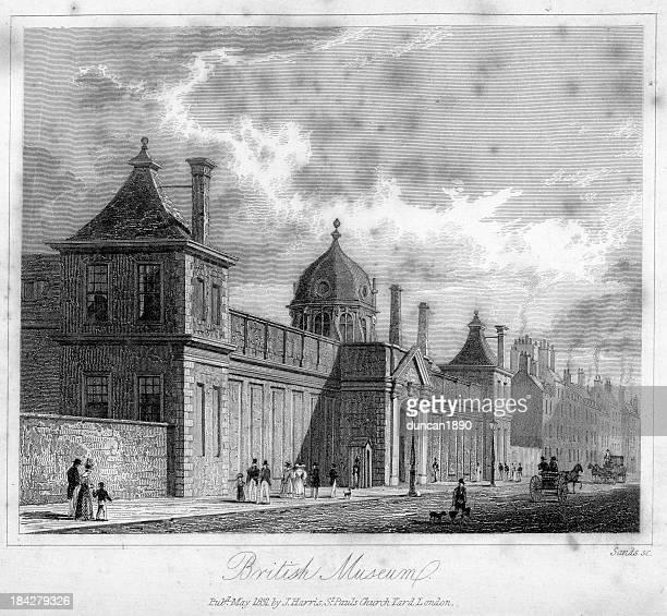 british museum - british museum stock illustrations