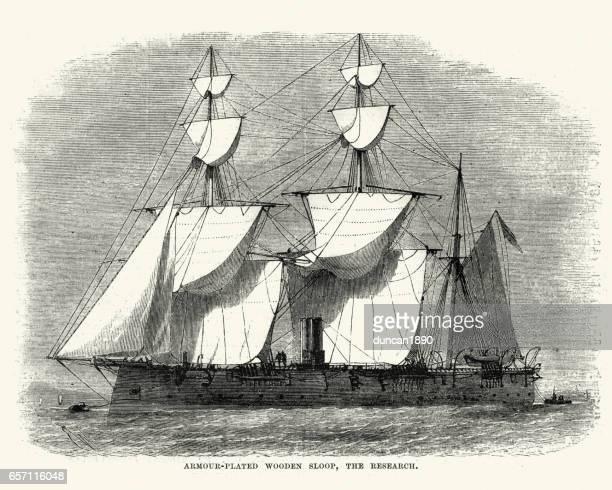 British Royal Navy Warship, HMS Research (1863)