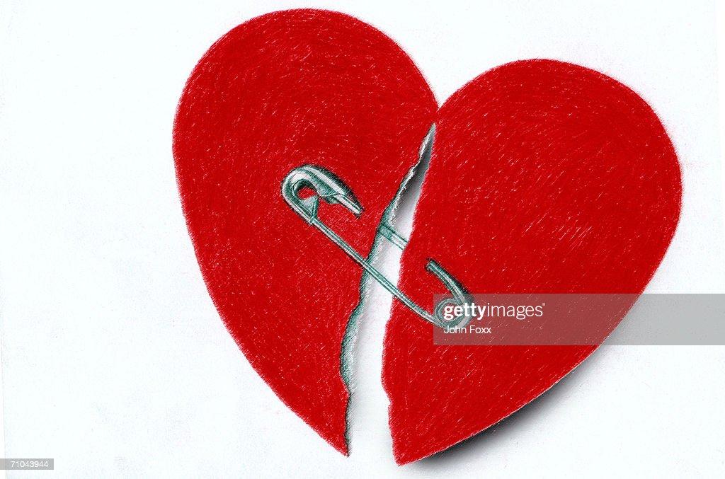 broken heart : stock illustration