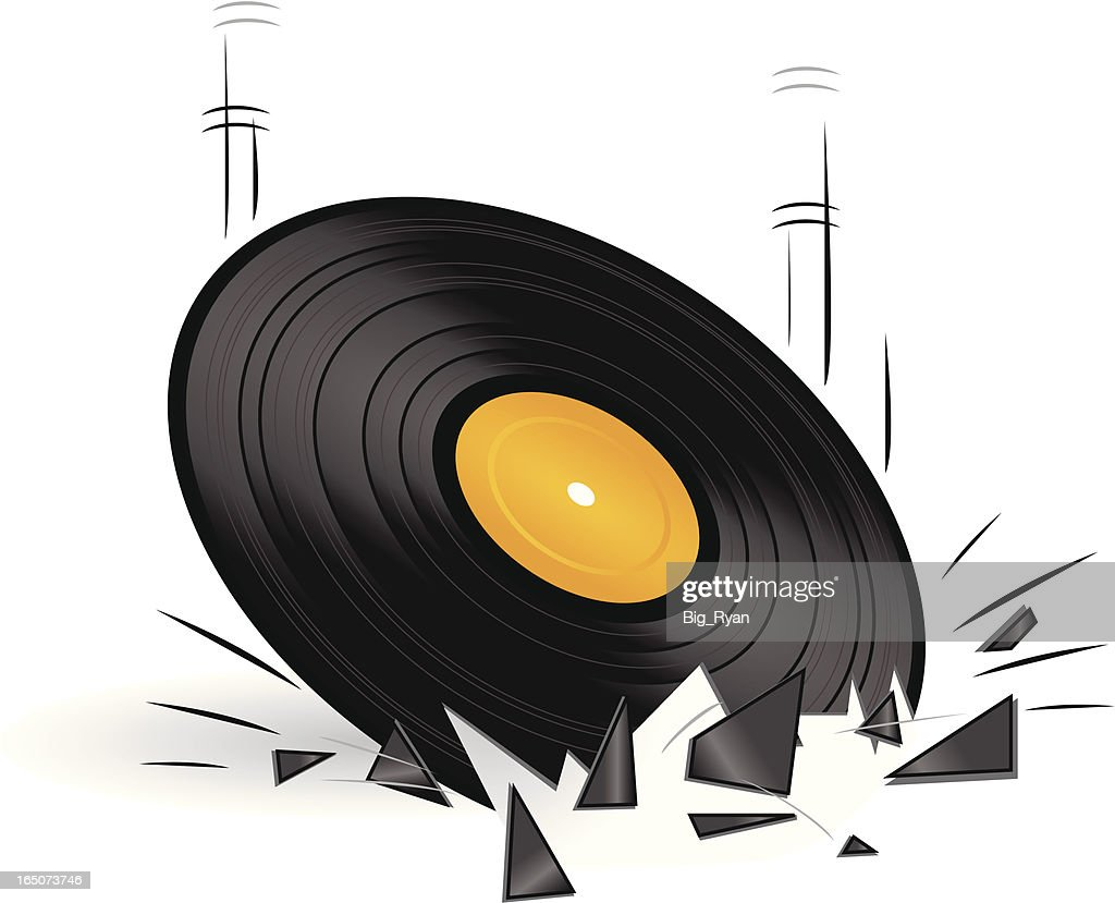 broken record : Stock Illustration