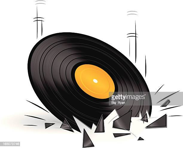broken record - broken stock illustrations, clip art, cartoons, & icons