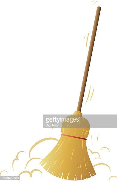 broom - broom stock illustrations, clip art, cartoons, & icons