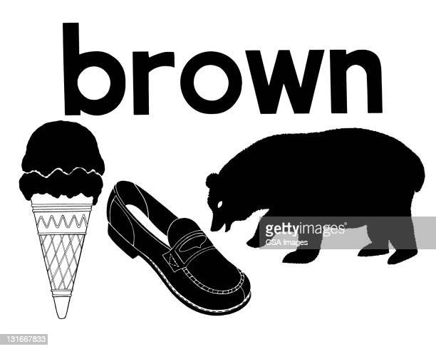 brown - four objects stock illustrations