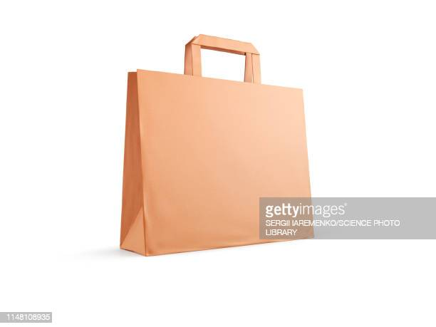 brown paper bag, illustration - consumerism stock illustrations