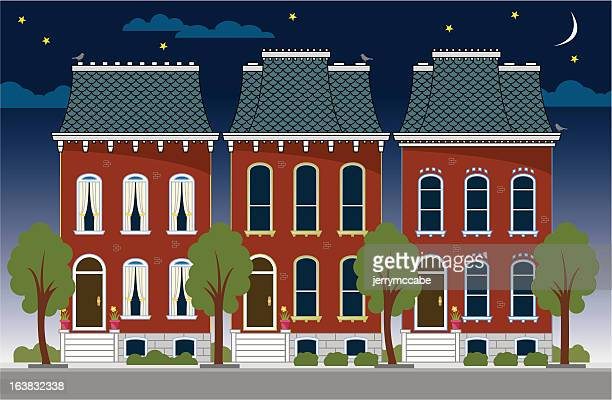 Terraced House Stock Illustrations and Cartoons | Getty Images