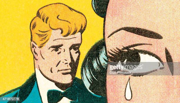 brunette crying - crying stock illustrations, clip art, cartoons, & icons