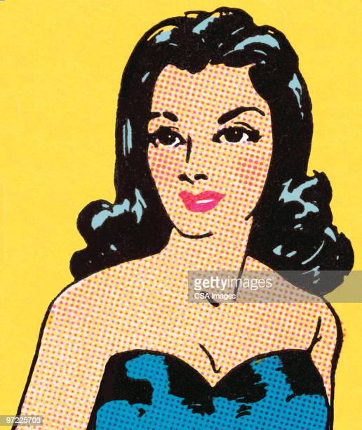 ilustraciones, imágenes clip art, dibujos animados e iconos de stock de brunette - reina de belleza