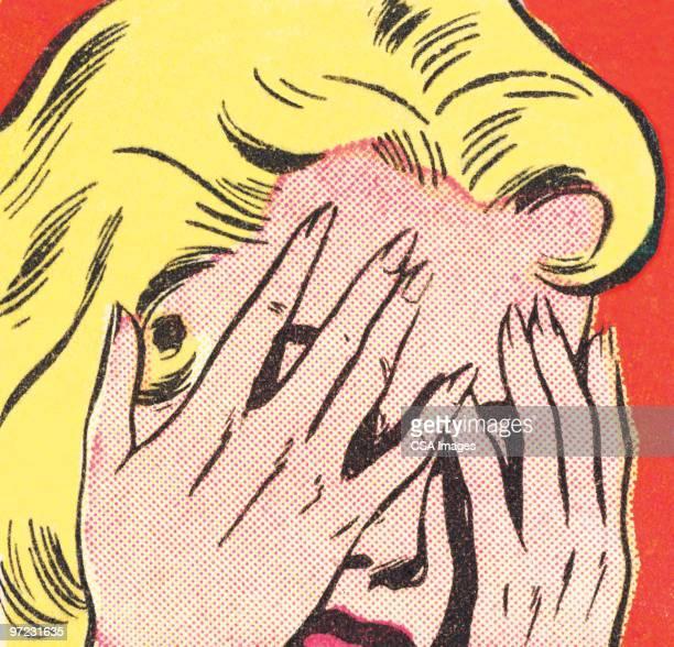 brunette - pop art stock illustrations