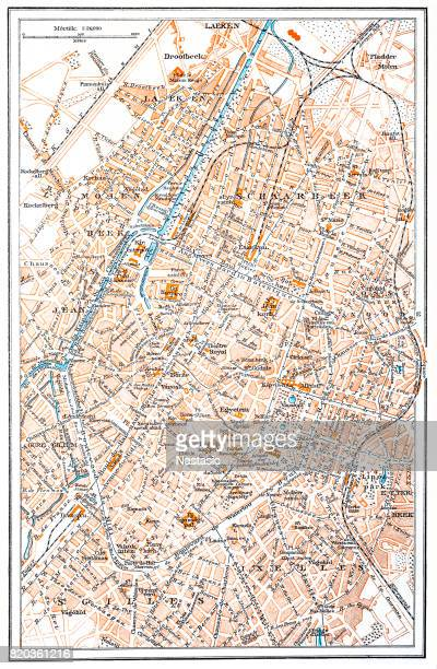 illustrazioni stock, clip art, cartoni animati e icone di tendenza di mappa di bruxelles - regione di bruxelles capitale