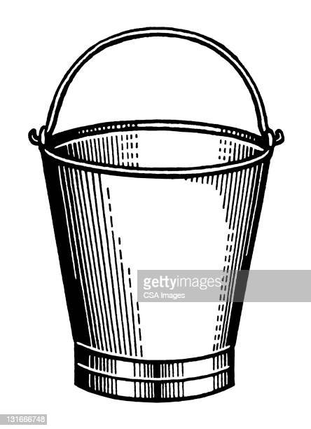 bucket - bucket stock illustrations, clip art, cartoons, & icons