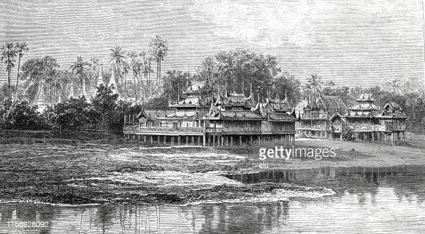 Buddhist stilt houses, Amarapura