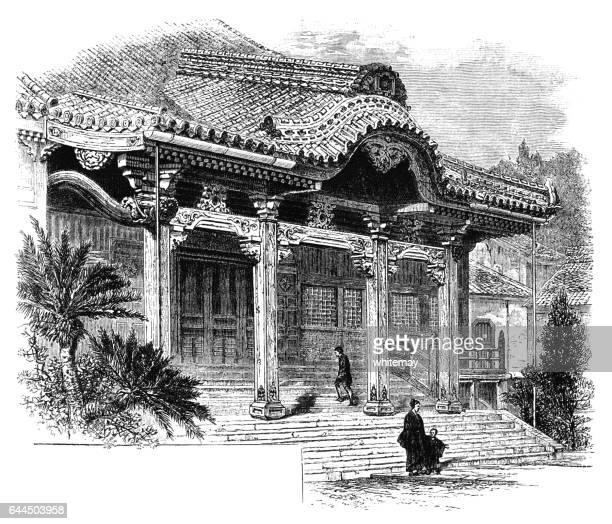 仏教寺院、長崎 - ビクトリア朝の彫刻