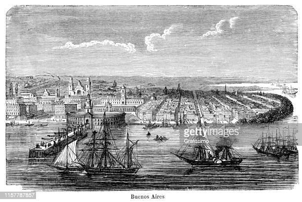 Buenos Aires Argentina harbor 1887
