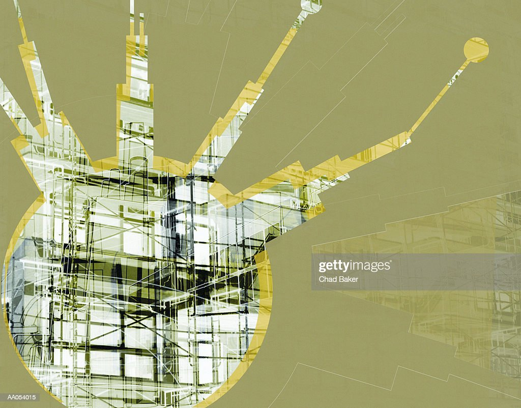 building under construction abstract layers and designs ストック