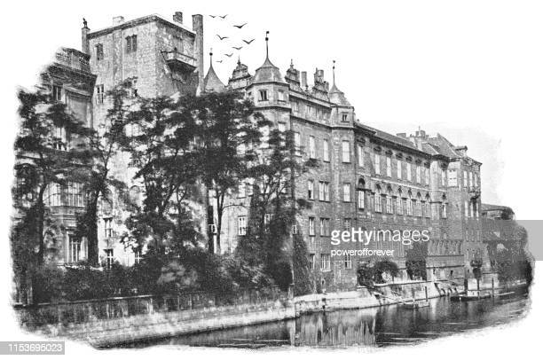 Buildings Along the Spree River in Berlin, Germany - Imperial Germany 19th Century