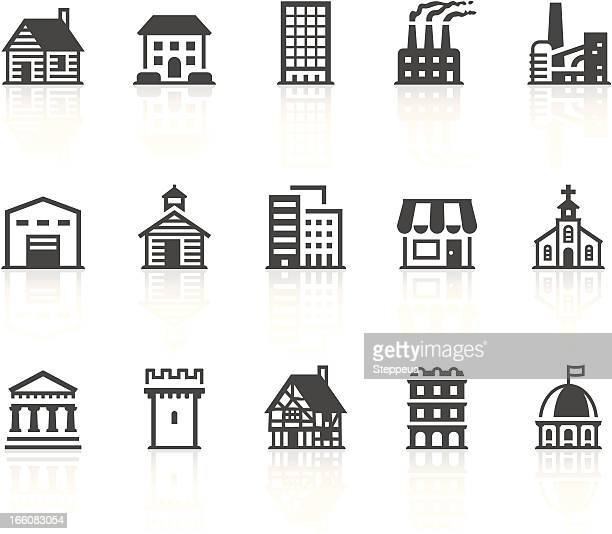 buildings icons - chapel stock illustrations, clip art, cartoons, & icons