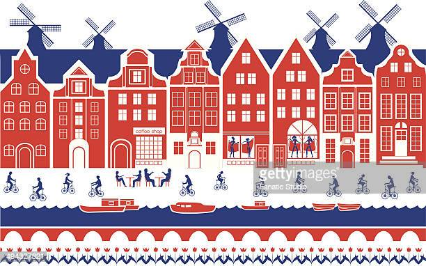 Buildings in a city, Amsterdam, Netherlands