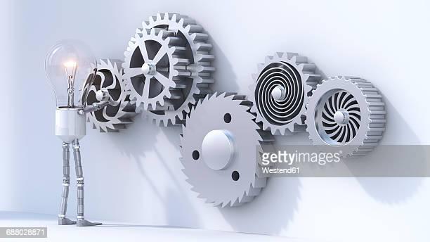Bulb manikin mounting cogwheels