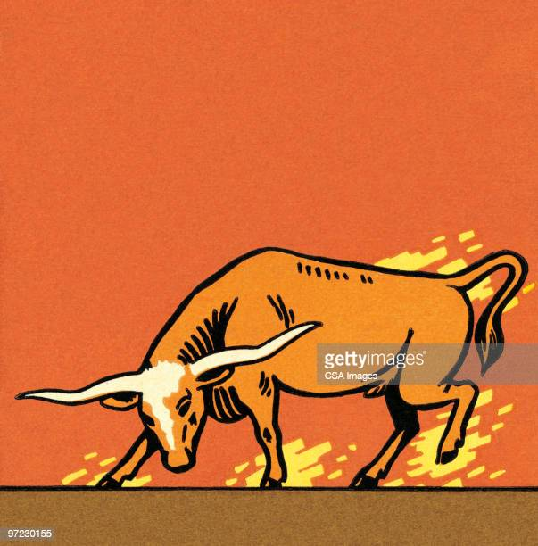 bull - animals charging stock illustrations, clip art, cartoons, & icons